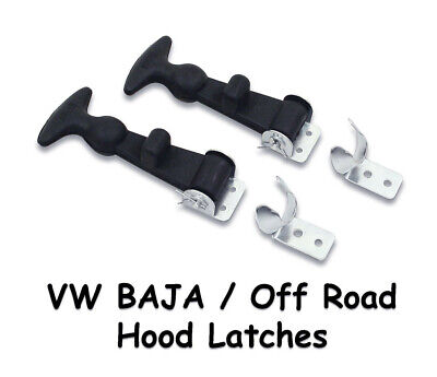 """Vw Bug Baja Off Road 5"""" Rubber Hood Hold Down Latches Rock Crawler Jeep Off Road"""
