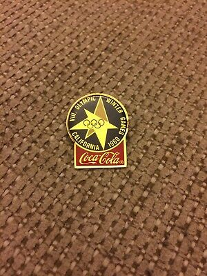 Vintage Coke 1960 Winter Olympic Pin Made In 1983 Nice