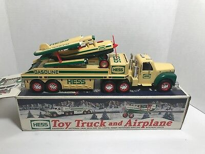 HESS Toy Truck and Airplane w/ Original Box - 2002
