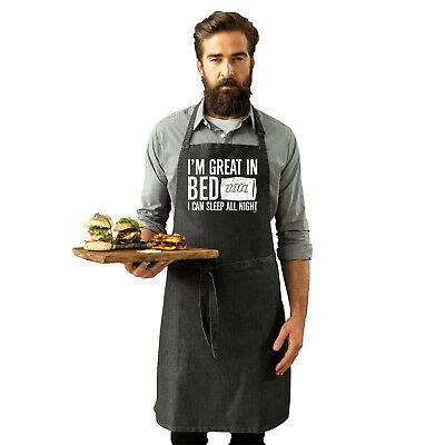 Funny Novelty Apron Kitchen Cooking - Im Great In Bed