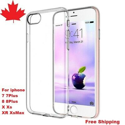 For iPhone 7 7Plus 8 8Plus X XS XR Xs Max Case Clear Thin Soft Back Cover 2 pack