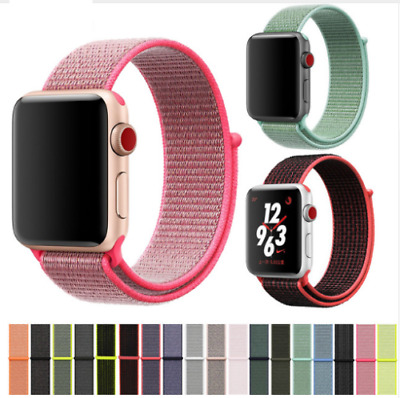 Flash Sport Loop Woven Nylon Band Bracelet For Apple Watch series 4 Watch Band