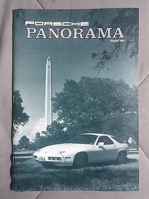 1981 August Porsche Panorama Magazine Carrera 911 928 944 924 356 Turbo