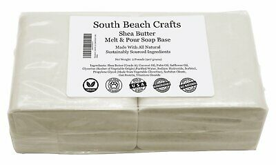 2 lbs Shea Butter Melt And Pour Soap Base DIY Making Supplies