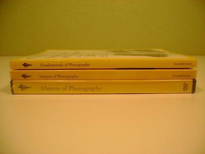 NEW The Great Courses Masters of Photography Fundamentals Set 4 DVD and 2 Books