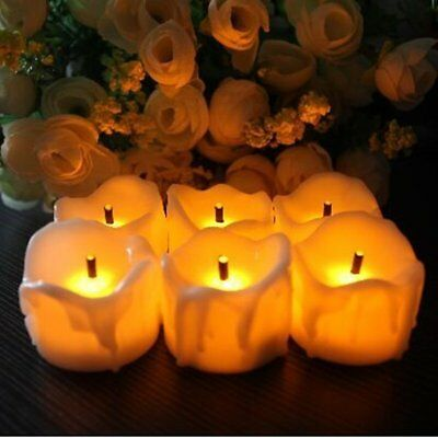12pcs/Set LED Flameless Tea Light Tealight Candle Lights Wedding Table Decor New