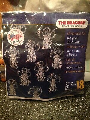 The Beadery Christmas Little Angels Bead Craft Kit Makes 18 Angels #5527 New
