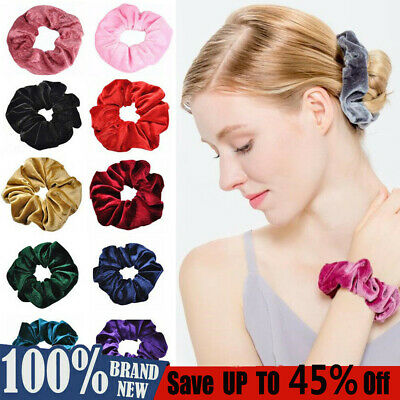 Velvet Scrunchies Ponytail Holder Hair Accessories Lot Elastic Hair Band Fashion