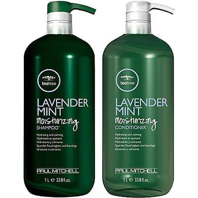 Paul Mitchell Tea tree Lavender Mint shampoo conditioner duo 33.8oz LITER