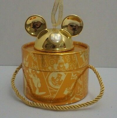 Disney Parks Mickey Mouse Club Gold Christmas Ornament 2018 Limited Edition