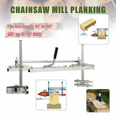 """Portable Chainsaw Mill Planking Milling Bar 14"""" to 36"""" Log Cutting Sawmill"""