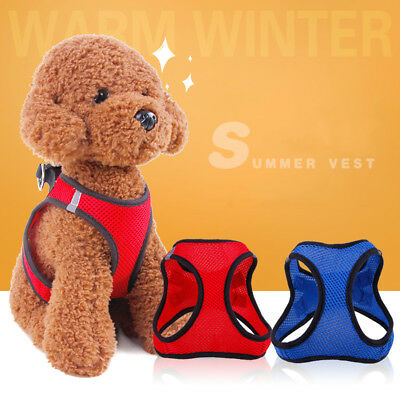 Adjustable Breathable Mesh Small Dog Pet Harness Puppy Vest Chest Strap XS-XL