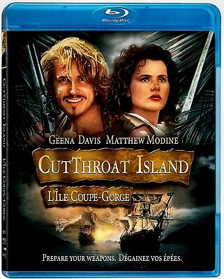 New Blu-Ray- Cut Throat Island -  Geena Davis , Matthew Modine , Frank Langella