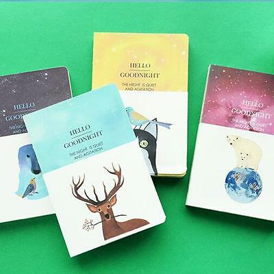 """""""Hello Goodnight"""" 1pc Notebook Sketchbook Blank Paper Cute Diary Journal Planner"""