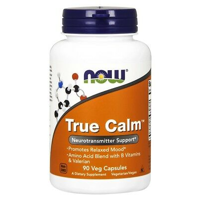Now Foods True Calm - 90 vegane Kapseln B-Vitamine, Magnesium, GABA