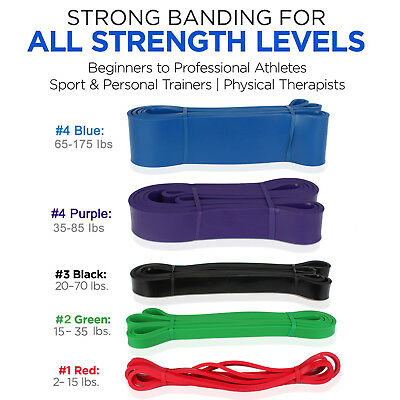 Pull Up Resistance Bands | Heavy Duty Exercise Fitness Loop Set for Gym Stretch
