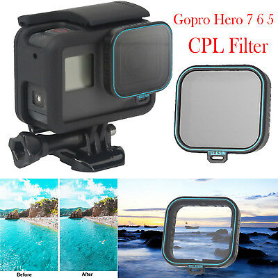 TELESIN CPL Filter Polarizer Lens Protector for Gopro Hero 7 6 5 Action Camera