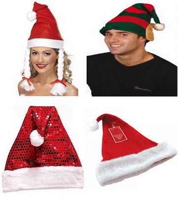 Adult Size Red Christmas Hat Novelty Father Xmas Santa Party Costume Outfit  New b5338a5e34b9