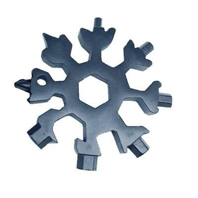 18in1 Multi-tool Combination Compact Portable Outdoor Snowflake Tool Card 2018