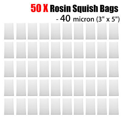 50 Pack 40 Micron Rosin Press Tea Filter Bags Rosin Screen Bag - 5'' x 3'' 40u