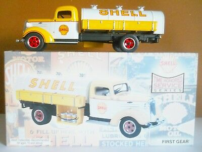 TOY SHELL OIL 1937 CHEVY 30s STYLE TANKER-2ND IN SERIES-FIRST GEAR - NEW IN BOX