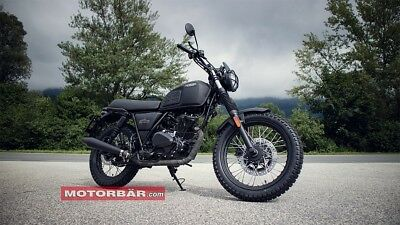 Brixton BX 125 BX125 Motorrad Motorcycle Naked Bike schwarz matt Great Britain