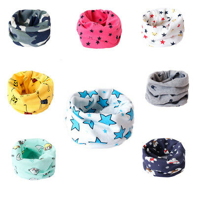 Newborn Baby Boys Girls Toddler Scarf Ring Neck Wraps Cartoon Shawl Collar Scarf
