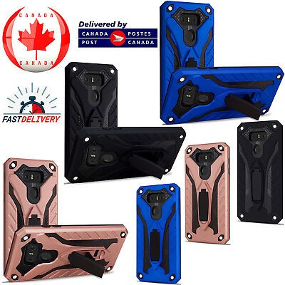 For LG G6 - Shockproof Heavy Duty Armour Kickstand Hard Slim Case Cover