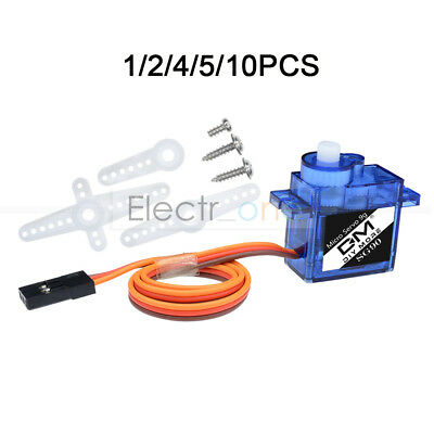 1/2/4/5/10PCS SG90 9G Micro Servo Motor RC Robot Helicopter Airplane Control Car