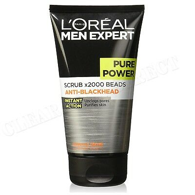 L'Oreal Men Expert Pure Power Scrub x2000 Beads Anti-Blackhead 150ml
