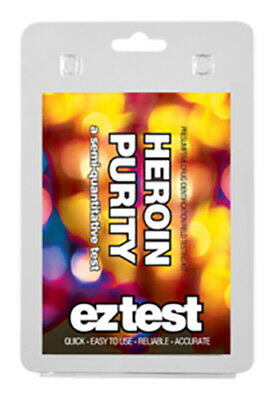 EZ Test Heroin Purity Test (1 test) Drug Testing Kit To determine The Amount ☆☆