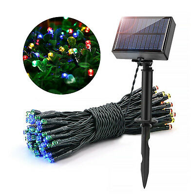 100 LEDs String Light Party Garden Halloweens Waterproof Solar Christmas Decor