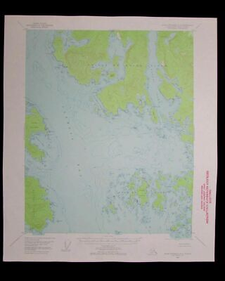 Dixon Entrance Alaska vintage 1957 old USGS Topo chart very detailed map