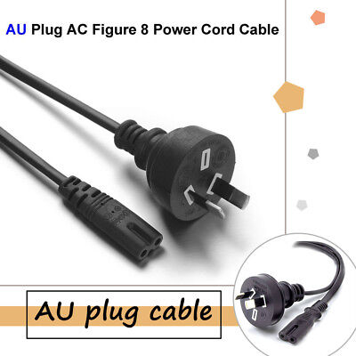 1pc 2 Pin Core Figure 8 IEC-C7 AC Power Cord Cable Lead AU Plug