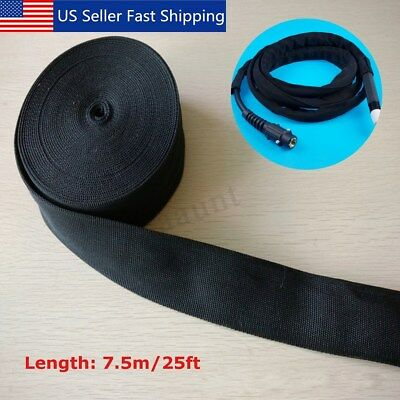 25' Nylon Protective Sleeve Sheath Cable Cover Welding Torch Hydraulic Hose 2''W