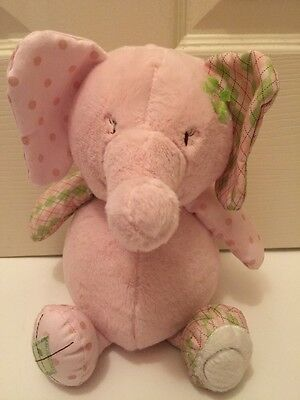 "CoCaLo ELEPHANT BANK 13"" Pink Plush Piggy Savings Stuffed Animal Baby Toy"