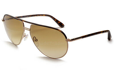 9a1fe6fea5 Tom Ford Cole Aviator Sunglasses Rose Gold Havana Brown Gradient Ft 0285 52K