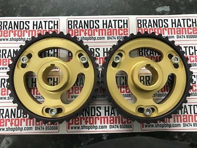 Ford Sierra Escort RS YB Cosworth Vernier Cam Adjustable Pulleys GOLD BLK PAIR