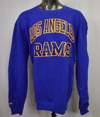 8987d1e32 Mitchell   Ness Mens NFL Los Angeles Rams Football Crew Shirt Sweatshirt  NWT 3XL
