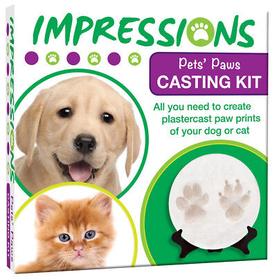Pet Dog Cat Impressions Casting Kit for Pets Dogs Paws - Cast in Plaster - Gift