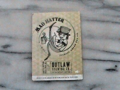 Roosters Outlaw Mad Hatter real ale beer pump clip sign
