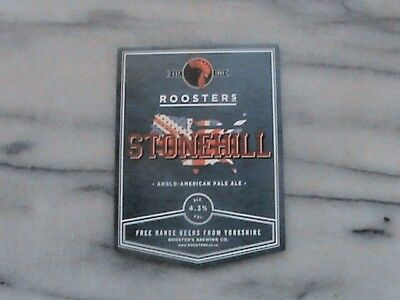 Roosters Stonehill real ale beer pump clip sign