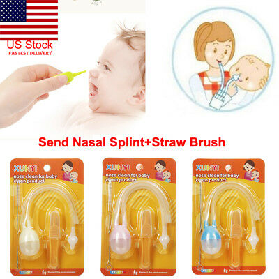US Baby Nasal Suction Aspirator Nose Cleaner Sucker Silicone Tool Flu Protection