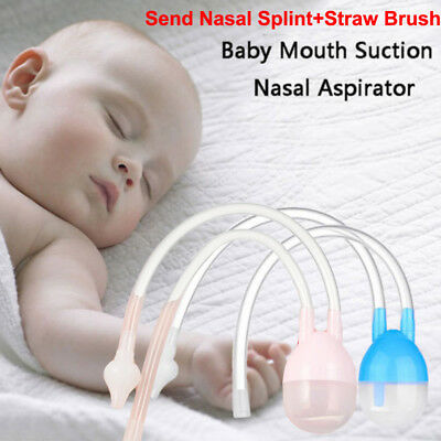 3PCS Newborn Baby Safety Nose Cleaner Vacuum Suction Nasal Aspirator Flu Protect