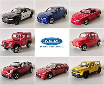 NEW 2018 - B Welly Serie 10 DieCast Metal Toy Cars 1:60 NEW MODELS NEW COLORS