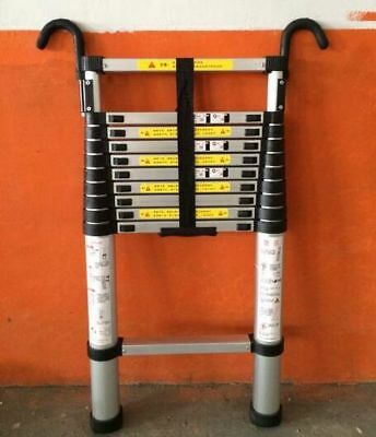 2.9m Retractable Ladder Portable Multipurpose Straight Ladders Telescopic