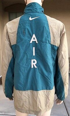 7adc596748 Vintage 90s Nike Windbreaker Jacket AIR Spell Out Big Logo White Tag Size  Large