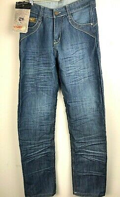 CARBON-Z Fashion Style Men's Light Denim Jean Size 30 Waist with Zipper Fly