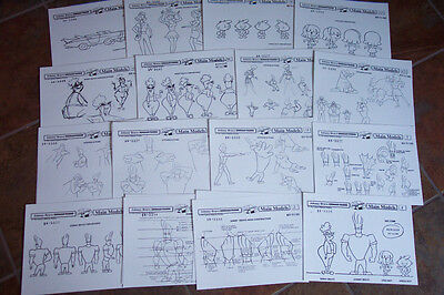 JOHNNY BRAVO ANIMATOR MODEL SHEETS HANNA BARBERA Artist Reference Guide
