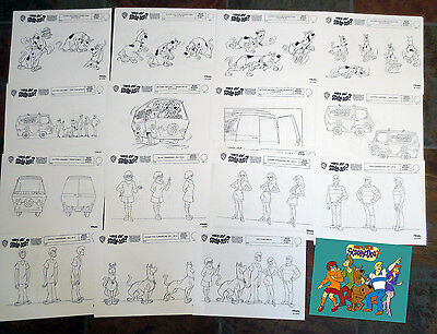 WHAT'S NEW SCOOBY DOO ANIMATORS' MODEL SHEETS HANNA BARBERA Art Reference Guide